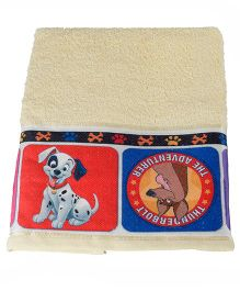 Disney Dalmations Printed Towel - Yellow