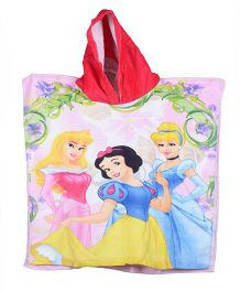 Disney Princess Printed Poncho - Pink