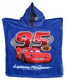Disney Pixar Car Printed Poncho - Blue