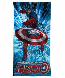 Marvel Captain America Printed Towel - Blue