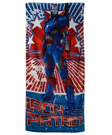 Marvel Iron Patriot Cotton Towel - Blue Red