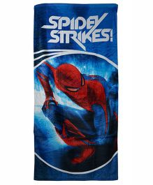 Marvel Spiderman Printed Towel - Blue