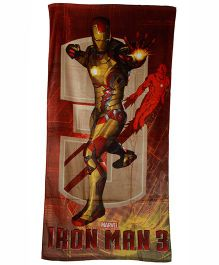 Marvel Iron Man 3 Printed Towel - Red