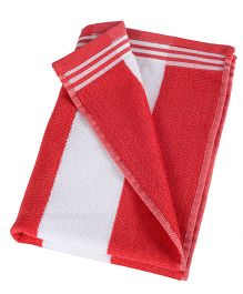 Sassoon Cotton Terry Cabana Hand Towels Red-  Set of 2