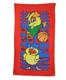 Sassoon Printed Towel - Red