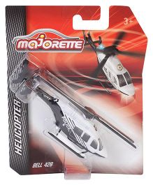 Majorette Helicopter Model Toy - White