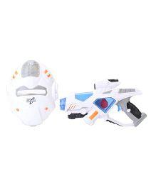 Simba Space Defender Gun And Mast Set - White