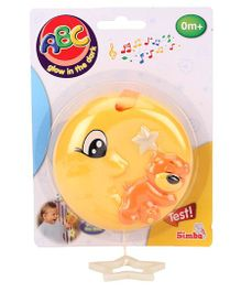 ABC Musical Clock Moon Clip On Toy - Yellow