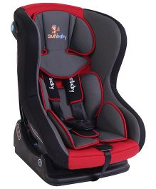 Sunbaby Convertible Car Seat - Black & Red
