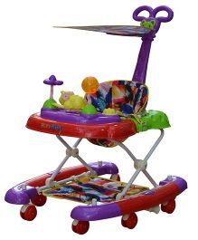 Sunbaby Musical Baby Walker Purple And Red - SB-3300