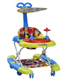 Sunbaby Musical Walker Blue And Yellow - SB-3300