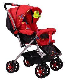 Sunbaby Stroller Cum Pram Red - SB-800A