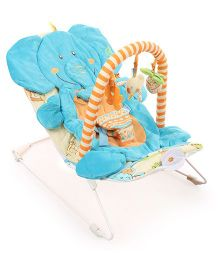 Sunbaby Elephant Cushioning Musical Bounce - Blue