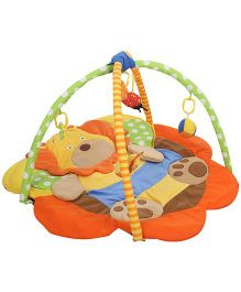 Sunbaby Puppy Shape Mat Infant Gym - Red And Yellow