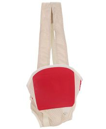 Kangaroo Style Baby Carrier - Red And Cream