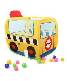 K's Kids School Bus Ball Pool - Yellow