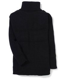 Babyhug Full Sleeves Sweater - Black