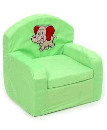 Luvely We Play Kids Sofa Chair Elephant Embroidery - Green