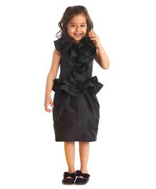 Kidology Front Frill Dress - Black