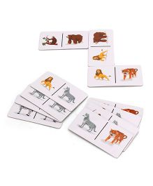 Zephyr Red Bus Animal Domino Game