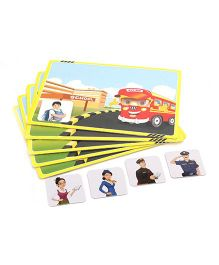 Zephyr Red Bus Going Places Card Game