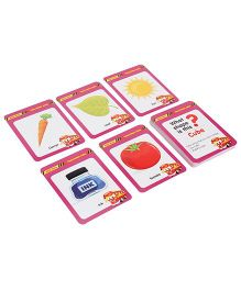 Zephyr Red Bus Flash Shapes And Colors Cards - 28 Cards