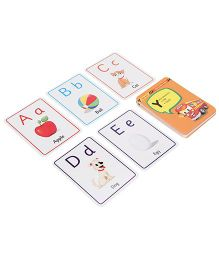 Zephyr Red Bus Flash Cards Alphabets - 28 Cards