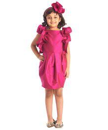 Kidology Frill Dress - Fuchsia