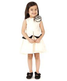 Kidology Frill Dress - White
