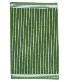 Sassoon Amber Stripe Cotton Terry Towel - Green