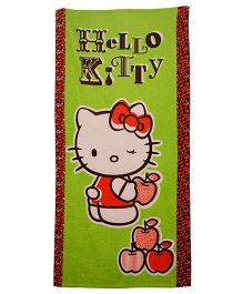Hello Kitty Printed Bath Towel - Green