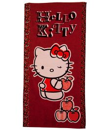 Hello Kitty Printed Bath Towel - Red