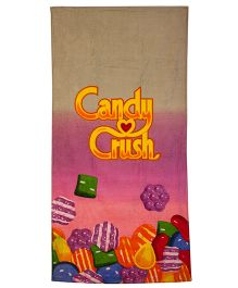 Candy Crush Print Bath Towel - Multicolor