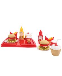 Ecoiffier Hamburger Set Multi Color - 36 Pieces