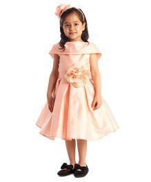 Kidology Shawl Collar Dress - Peach
