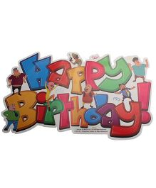 Motu And Patlu Happy Birthday Banner - 1 Piece
