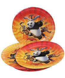 Kung Fu Paper Snack Plates - Pack Of 10