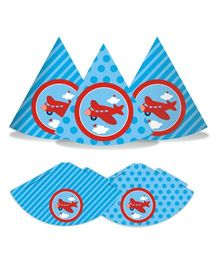 Prettyurparty Airlines Party Hats- Blue