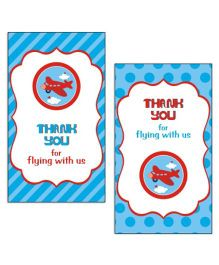 Prettyurparty Airlines Thankyou Cards- Blue