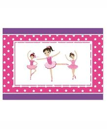 Prettyurparty Ballerina Table Mats- Pink and Purple