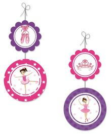 Prettyurpart Ballerina Danglers- Pink and Purple