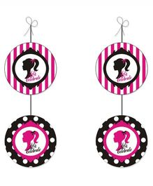 Prettyurparty Barbie Danglers- Pink and Black
