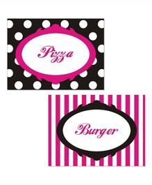 Prettyurparty Barbie Food Labels- Pink and Black