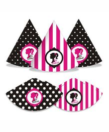 Prettyurparty Barbie Party Hats- Pink and Black