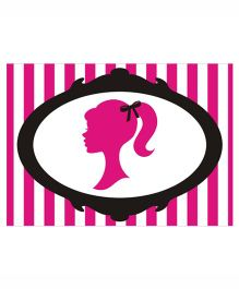 Prettyurparty Barbie Table Mats- Pink and Black
