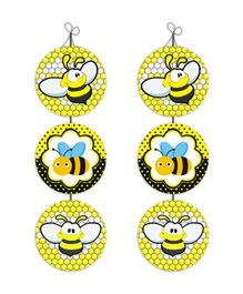 Prettyurparty Bumble Bee Danglers- Black and Yellow