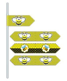 Prettyurparty Bumble Bee Drink Straws- Black and Yellow