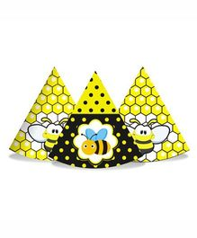 Prettyurparty Bumble Bee Party Hats- Black and Yellow