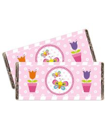 Prettyurparty Butterfly Chocolate Wrappers- Pink