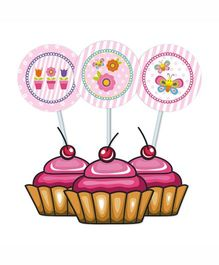 Prettyurparty Butterfly Cupcake Food Toppers- Pink